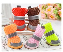 $enCountryForm.capitalKeyWord Australia - New Anti-Slip Dog Casual Shoes Soft Sole Mesh Boots Breathable Summer Pet Cute Shoes Candy Colors 5 Sizes For Pet Dog