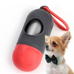 portable iron box UK - Mini Pet Garbage Bag Bullet Portable Stool Bag Container Pill Box Dog Cleaning Equipment Pet Pooper Scoopers Bags Colorful