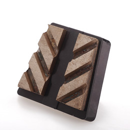 $enCountryForm.capitalKeyWord NZ - KD-L400 3 Pieces Abrasive Grinding Block Diamond Frankfurt with Two Grinding Segments for Marble Stone Surface Polishing