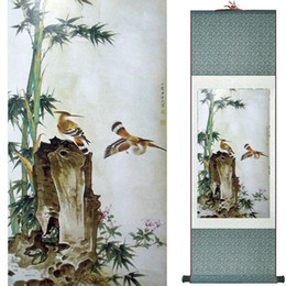 $enCountryForm.capitalKeyWord Australia - Birds And Flowers Murals Silk Rolling Traditional Chinese Painting House Decoration Painting 2019072002