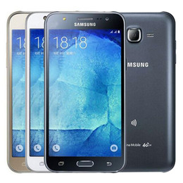 Venta al por mayor de Reformado original para Samsung Galaxy J5 J500F Dual SIM pantalla LCD de 5.0 pulgadas Quad Core de 1,5 GB de RAM 16 GB de ROM 13 MP 4G LTE del teléfono celular de DHL 10pcs