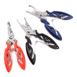 Discount remove fish hook - Hot Stainless Steel Fishing Pliers Scissors Line Cutter Remove Hook Tackle Tool Kits Accessories Outdoor PLD