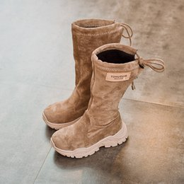 c5effdde91c92 FASHION New Girl boots Autumn Winter child Wild High tube Martin boots  princess Korean version Cotton Children s shoes