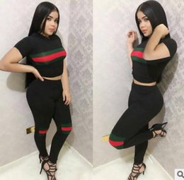 $enCountryForm.capitalKeyWord Canada - Newest 2019Hoodie T Shirt Top Short Track Suits Summer Woman Tracksuit Clothes Work Out Long Pants Slim High Waist Ensemble