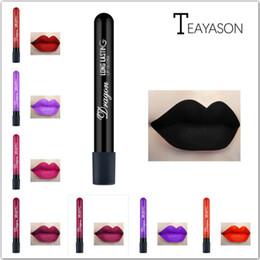 $enCountryForm.capitalKeyWord NZ - 1 Pcs Sexy Vampire Lipstick Matte Waterproof Velvet Lip Stick 28 Colors Sexy Red Pigments Makeup Matte Lipsticks Beauty Lips