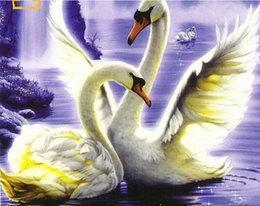 $enCountryForm.capitalKeyWord Australia - 40x50cm Animals Swans pictures Draw by numbers on canvas with acrylic paints home decor modern hand-painted pictures on the wall