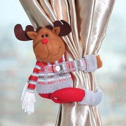 $enCountryForm.capitalKeyWord Australia - Curtain Buckle Christmas Window Decorations Cute Christmas Decor Drapes Holders Cartoon Doll Curtain Buckle