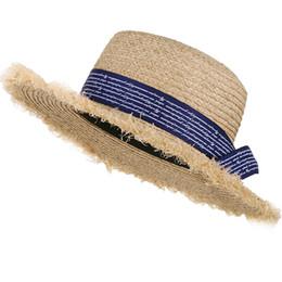 0e6e17f1 Handmade Weave Raffia Sun Hats For Women Large Brim Straw HatFloppy Sun Hat  Summer Beach Cap Fedora New