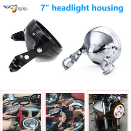 "housing bracket Australia - Newest 7"" Motorcycle Headlight Housing Bucket 7 inch motorcycle headlight headlamp bracket"