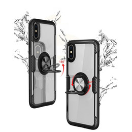 China For iPhone 11 Pro Max XS X XR 8 7 6 Plus Samsung Note 10 9 S10 5G S10E S9 A20 Finger Ring Clear Bracket Phone Case with Magnetic Car Holder suppliers