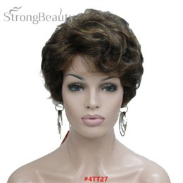 Black Wigs Highlights Australia - Short Black Brown Mix Blonde Highlights Wigs Women Synthetic Curly Wigs