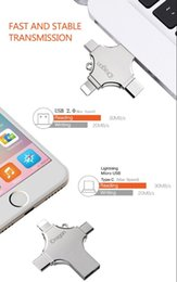 $enCountryForm.capitalKeyWord Australia - 4 in 1 type-c flash drive OTG Micro USB 2.0 USB disk 128gb Memory External Hub For iPhone iPad free DHL