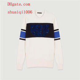 $enCountryForm.capitalKeyWord NZ - 2019 brand women sweaters White letter sequins colorblock long sleeve knit sweater women pullover tops high quality women clothes TS-5