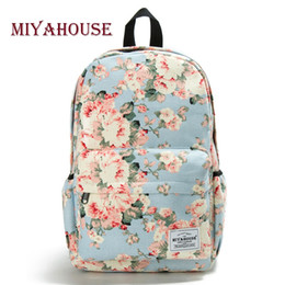 $enCountryForm.capitalKeyWord Australia - for Miyahouse Colorful Floral Printed School For Girls Canvas Design Women Backpack Casual Female Travel Rucksack