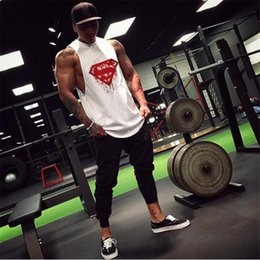mens sleeveless tank tops Australia - New fashion cotton sleeveless shirts tank top men Fitness shirt mens singlet Bodybuilding workout gym vest fitness men running