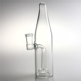 Smoke bottle online shopping - New mm Female Beer Bottle Glass Beaker Bong with Inch Thick Heady Glass Dab Rigs Water Recycler Bongs for Smoking Pipes
