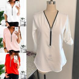 e608895adeb3 Sexy office ShirtS online shopping - 2019 Summer Blouse Women Sexy V Neck  Woman Elegant Shirt