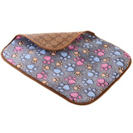 Pet cool Pad online shopping - Pet Straw Mat Summer Fashion Cat Paws Pattern Double sided Sleep Pad For Dogs UK