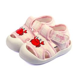 $enCountryForm.capitalKeyWord NZ - New Cartoon Animal Baby Sandals Summer Casual Kids Comfortable Cotton Boys Girls Sandals Non-slip Soft Bottom First Walkers