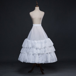 $enCountryForm.capitalKeyWord Australia - Hot Sale A-Line Lolita White Lace Edge Ball Gown Wedding Accessories Long Crinoline Petticoats For Wedding Dress Underskirt CPA1201