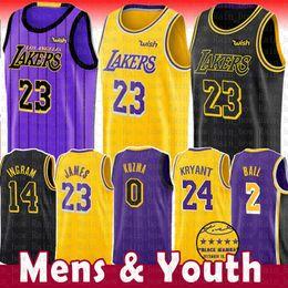 23 Maillot LeBron James Lakers 0 Kyle Kuzma Hommes Jeune 2019 Los Angeles James Lakers 2 Balle Lonzo 14 Brandon Ingram 24 Kobe Bryant