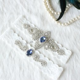 9963112a9 Wedding Bridal White lace Garter Blue garter Keepsake Something blue Ivory Lace  Garter Set something blue bridal accessories