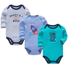Baby Pack UK - 3 Pack Baby Boys Bodysuit Newborn Babies Girls Body 3 6 9 12 18 24 Months Infant Long Sleeve Bodysuits Y19050602