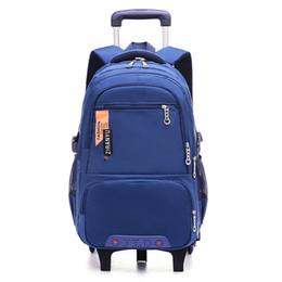 $enCountryForm.capitalKeyWord Australia - Waterproof Trolley Backpack Boys Girls Children School Bag Wheels Travel Bag Luggage Backpack Kids Rolling Detachable Schoolbags