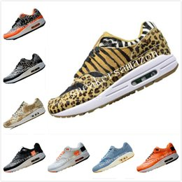 Wholesale 2019 Atmos Animal Pack Leopard Print Fur Running Shoes s Atmos Animal Pack EVA Built in AirCushion Cushioning Sports Shoes