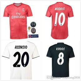 2018 2019 Real Madrid third red soccer jersey 18 19 RONALDO BENZEMA ISCO BALE  SERGIO RAMOS MORATA ASENSIO MODRIC football shirt 338a74c68