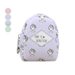 Cute Gifts Coin Purses UK - Cute Mini Coin Purse Women Pu Leather Printing Card Bag Key Holder Zipper Change Wallet Lady Girl Clutch Money Bag New Year Gift