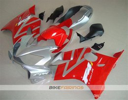 f4i fairings UK - Hot sales New Injection Mold ABS Motorcycle fairings kits Fit for HONDA CBR600RR F4i 2004 2005 2006 2007 Free custom Red Silver