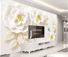 Home Improvement Custom 3d Photo Wallpaper Living Room Mural Buddha White Jade Carving Painting Sofa Tv Backdrop Non-woven Wallpaper For Wall 3d For Fast Shipping