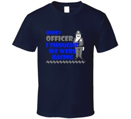 blue police car UK - Sorry Officer Racing Funny Police Modified Cars Fan T ShirtFunny free shipping Unisex Casual Tshirt
