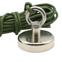 $enCountryForm.capitalKeyWord NZ - Fishing Magnets Dia. 48 60 75mm Lifting Neodymium Magnet with Nylon Rope 60-150kg Pulling Deep Sea Salvage Tools Dropshipping