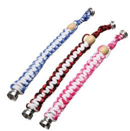 Vente en gros Bracelet Portable Tuyau À Fumer Créative Mode Pipes En Métal Tuyaux À Fumer Drôle De Personnalité Mini Pipe Creative Portable