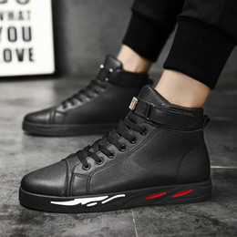 $enCountryForm.capitalKeyWord Australia - Men high hop Casual Shoes Men leather Sneakers High Top Black White red Flats Zapatos Mujer Chaussure Homme Shoes LK-57