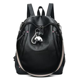 Womens Backpacks Zippers NZ - 2019 Hot Sale Style Bookbags Womens Backpack PU LeatherTravel Bags Student School Bag Girl Backpacks Casual Travel Rucksack