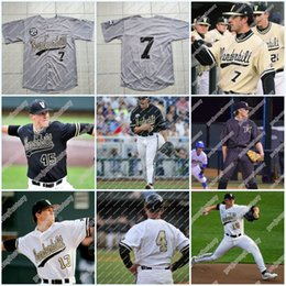 Gold jerseys online shopping - Stitched Vanderbilt Commodores Performance Jersey White Black Grey Gold Program Team Road Baseball Jersey For Mens Womens Youth