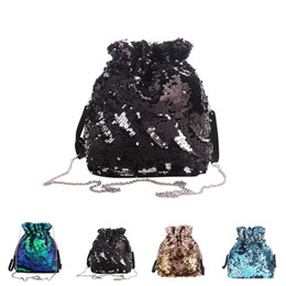 $enCountryForm.capitalKeyWord Australia - Fashion Glitter Drawstring Bag Ladies Women Evening Party Clutch Handbag For Girls Elegant Sequin Mini Crossbody Bag Sac