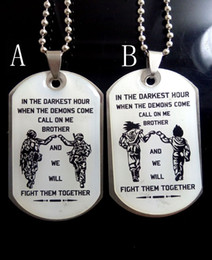 $enCountryForm.capitalKeyWord Australia - wholesale 2Pcs To My brother Solider Surprise stainless steel pendants necklace friendship birthday dog tag Chain boys men jewelry