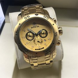 Wholesale Big dial invicta all Subdials Working Chronograph Luxury Watch Men Watches Top Brand Silicone tape Quartz Wrist Watch cfo Men gift reloje s
