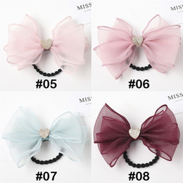 hair feather clips Canada - New Flashing sequins lace bow Princess Girl hair clips hairband 4 color Duckbill hair barrettes hair rope jewelry BJJ288
