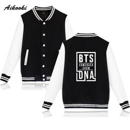$enCountryForm.capitalKeyWord Australia - New hot Baseball Jacket BTS DNA Love Yourself Women men Sweatshirt Bangtan Album Kpop Jumpers Men Song Hip Hop Baseball Jackets