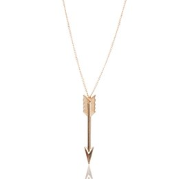long stylish chain pendant Canada - Stylish Jewelry Creative Women Fashion Jewelry Bronze Retro Arrow Head Pendant Long Chain Necklace Gift Accessories Sexy Chain #