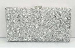 Crystal Diamond Fabrics Australia - Women Evening Clutch Bag Diamond Sequin Clutch Female Crystal Day Clutch Wedding Purse Party Banquet Black Gold Silver Two Chain