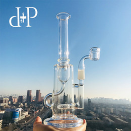 """$enCountryForm.capitalKeyWord UK - Plus Glass Bong Water Pipe 443 unique All Clear color Recycle Function well heady art pipe with percolator 10"""" Height 14mm Male Joint"""
