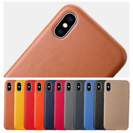 casi custodia in pelle telefono PU per iPhone 11 pro max 6 6s più 7 8 più X Xs max Xr colore solido coperchio di protezione cover posteriore in Offerta