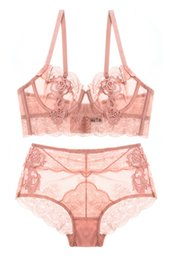 b798708d5d Fast Delivery Women Bra Set 2018 Hot Sales Lingerie Set Lace Sexy  Ultra-thin Push Up Embroidered Transparent Bra Underwear