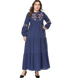 $enCountryForm.capitalKeyWord Australia - Women Muslim Maxi Dress Abaya Dubai Embroidery Plus Size Kaftan Abayas Arabe Qatar Elbise Hijab Islamic Clothing Vestidos 4XL